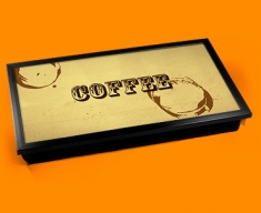 Coffee Rings Typography Laptop Tray