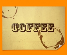 Coffee Rings Typography Poster