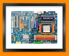 Coloured Circuitboard Framed Print