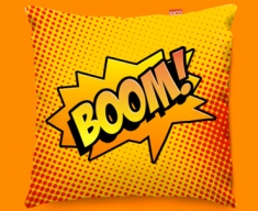 Comic BOOM Funky Sofa Cushion 45x45cm