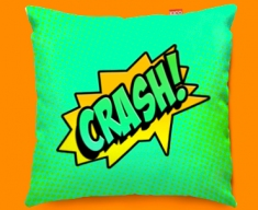 Comic CRASH Funky Sofa Cushion 45x45cm