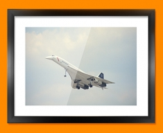 Concorde BAC Front Plane Framed Print
