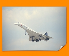 Concorde BAC Front Plane Poster