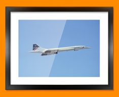 Concorde BAC Side Plane Framed Print
