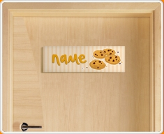 Cookies Personalised Name Children's Bedroom Door Sign