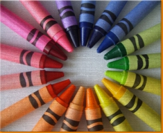 Crayons Canvas Art Print