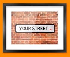 Custom UK Street Sign Framed Print