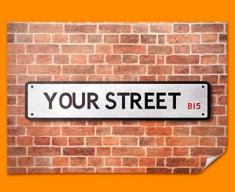 Custom UK Street Sign Poster