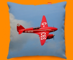 DH88 Comet de Havilland Plane Sofa Cushion