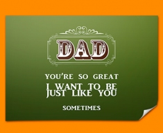 Dad Typography Poster