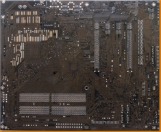 Dark Brown Circuitboard Canvas Art Print