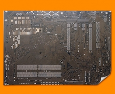 Dark Brown Circuitboard Poster