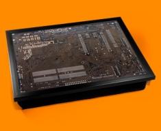 Dark Brown Circuitboard Cushion Lap Tray