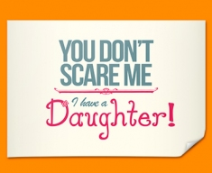 Daughter Typography Poster