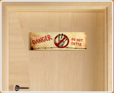 Do Not Enter Children's Bedroom Door Sign
