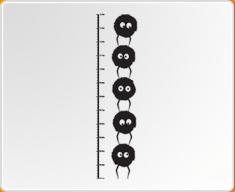 Dust Bunnies Height Chart Wall Sticker