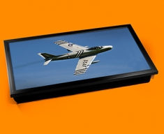 F 86 Sabre North American Aviation Plane Cushion Laptop Tray