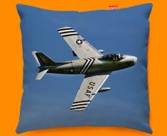 F 86 Sabre North American Aviation Plane Sofa Cushion