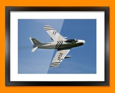 F 86 Sabre North American Aviation Plane Framed Print
