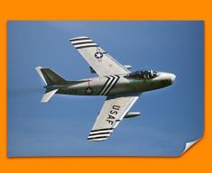 F 86 Sabre North American Aviation Plane Poster