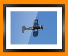 F4 Corsair Vought Plane Framed Print
