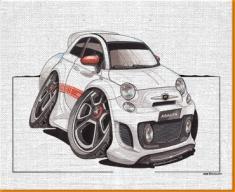 FIAT 500 Arbath Canvas Art Print