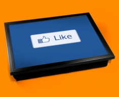 Facebook Like Cushion Lap Tray