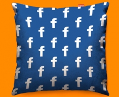 Facebook Pattern Sofa Cushions 45x45cm