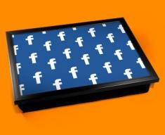 Facebook Pattern Cushion Lap Tray