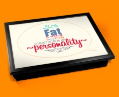 Fat Typography Lap Tray