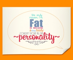 Fat Typography Poster