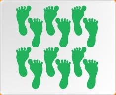 Feet Set Wall Sticker