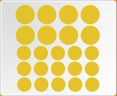 Filled Circle Set Wall Sticker