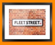 Fleet Street UK Street Sign Framed Print