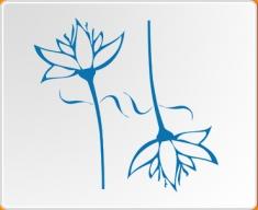 Flower 02 Twin Set Wall Sticker