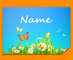 Flowers Personalised Childrens Name Poster