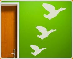 Flying Ducks Set Wall Sticker