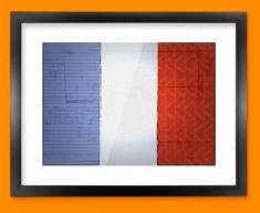 France Flag Framed Print