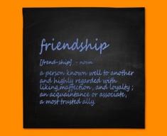 Friendship Definition Napkins (Set of 4)