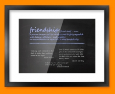 Friendship Definition Framed Print
