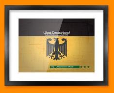 Germany 74 Flag Framed Print