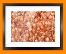 Gold Baubles Framed Print