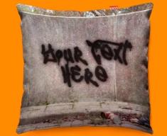 Graffiti Wall Personalised Funky Sofa Cushion 45x45cm