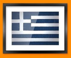 Greece Flag Framed Print