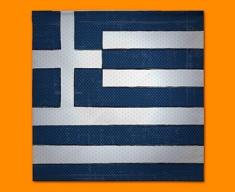 Greece Flag Napkins (Set of 4)