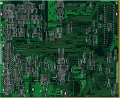 Green Circuitboard Canvas Art Print