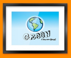 Green Earth Framed Print
