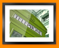 Green Telephone Box Framed Print