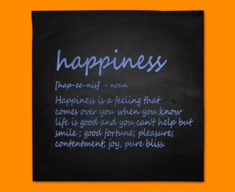 Happiness Definition Napkins (Set of 4)
