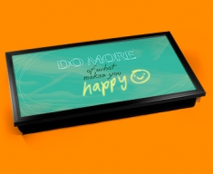 Happy Typography Laptop Tray